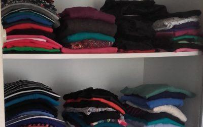 Vraag van een klant: ik heb verschillende kledingmaten, hoe ruim ik die op?